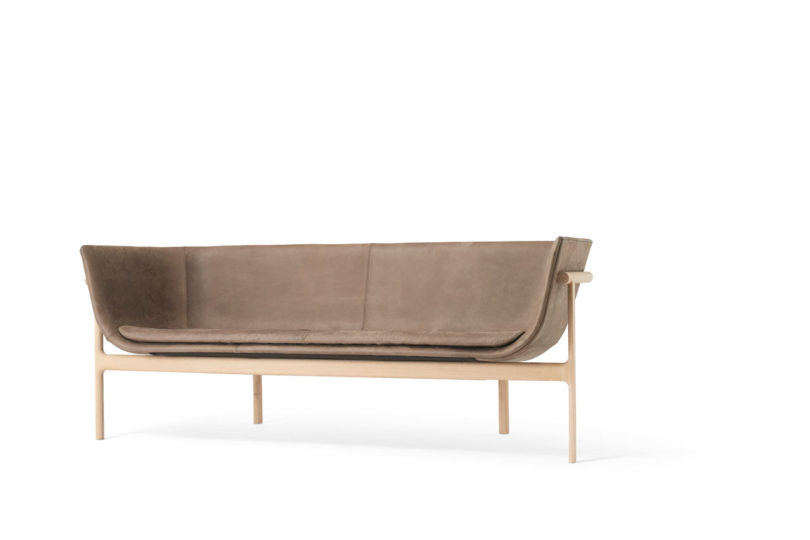 A sculptural sofa inspired by an old tailor shop design milk for Edit 03 sofa