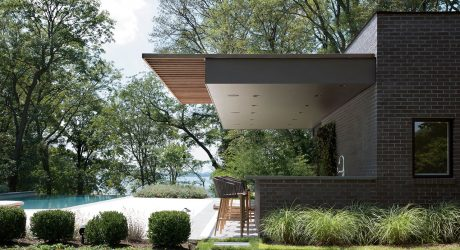 Free Float: A Modern Pool House in Sands Point, New York