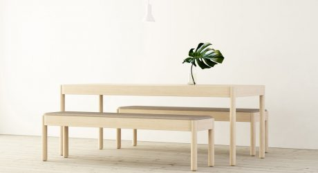 Wakufuru Brings Sound Absorption to Wood Tables and Benches