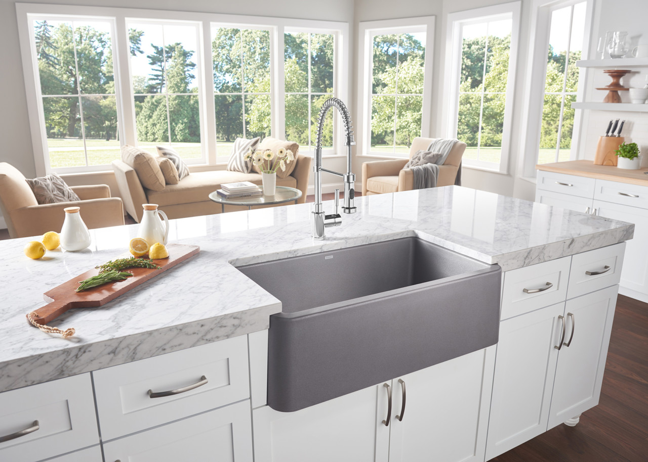 The Nostalgic Apron-Front Sink Makes a Modern Comeback