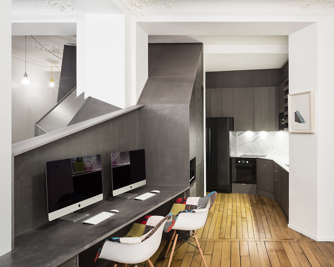 A Classic Parisian Apartment Gets a Geometric Intervention