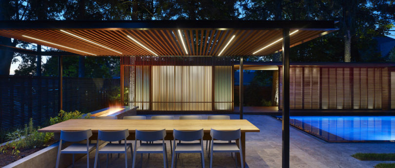 A Backyard Pavilion and Pool for the Perfect Escape - Design Milk