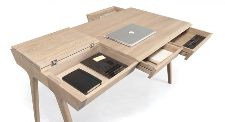 A Storage-Packed Desk So You Can Keep Your Workspace Tidy