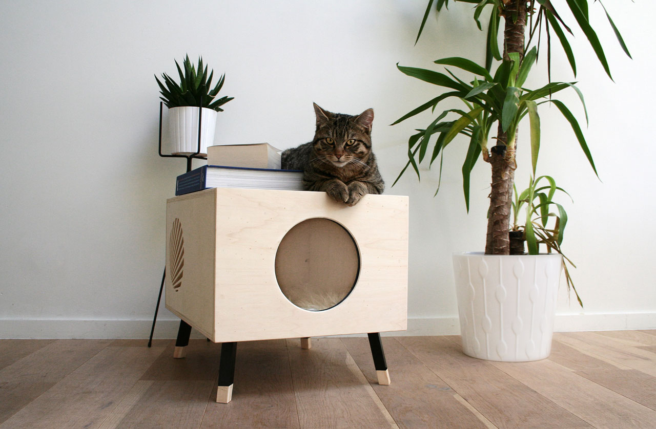 innovative modern cat furniture | A Modern Cat House They'll Love and You Won't Mind Having ...