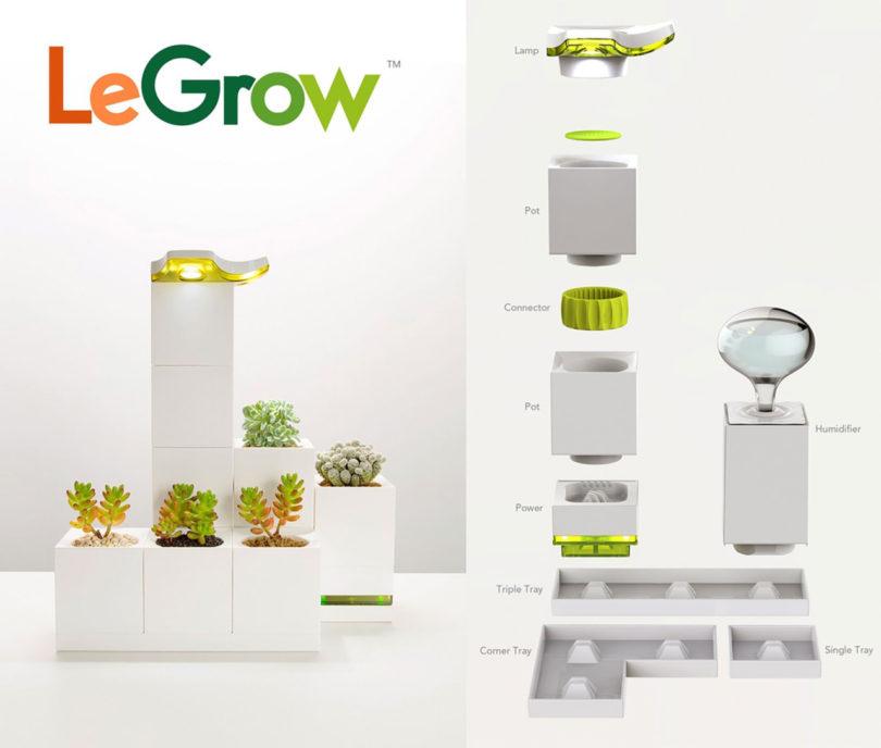 legrow smart garden is like lego blocks for growing plants design milk. Black Bedroom Furniture Sets. Home Design Ideas