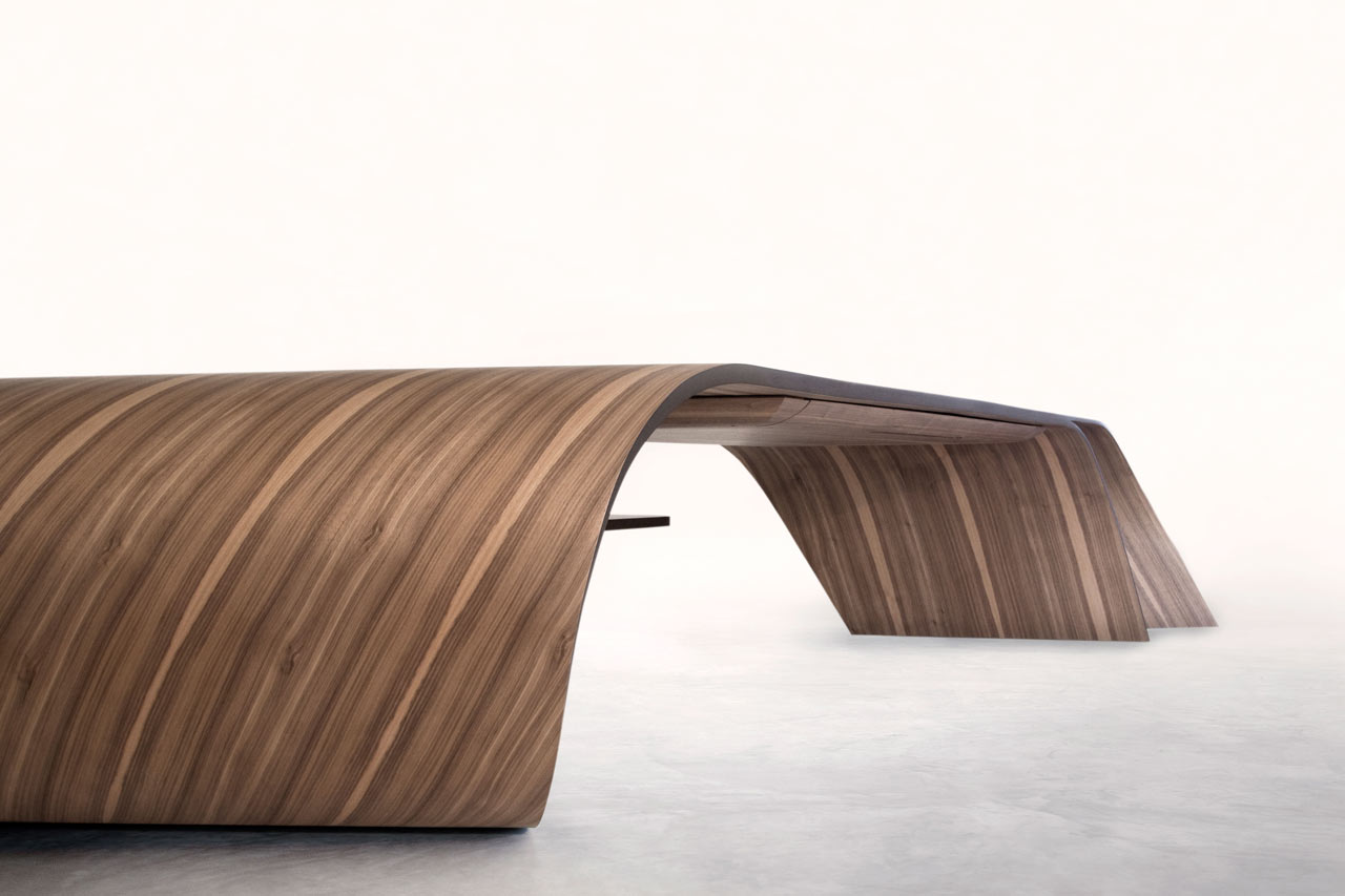 A Sculptural Desk That Pushes the Limits of Wood