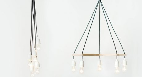 Palka Turns Corded Light Sockets into Chandeliers