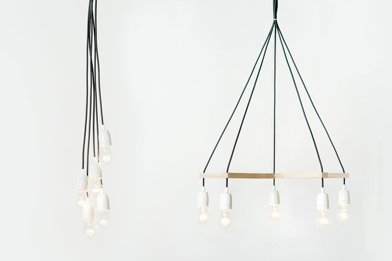 Palka turns corded light sockets into chandeliers design milk palka turns corded light sockets into chandeliers mozeypictures Images