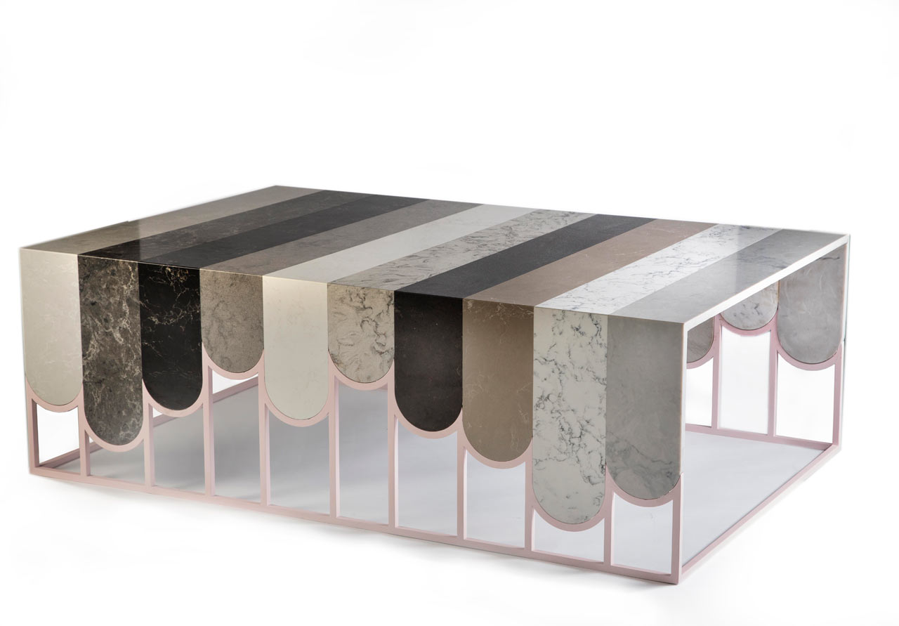 Caesarstone Commissions Swatch Table by Dor Carmon Studio