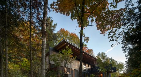 A Luxury, Wooded, Lakeside Retreat Northeast of Toronto