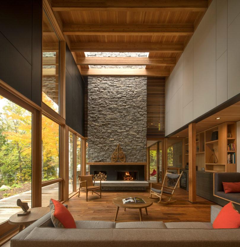 A Luxury Wooded Lakeside Retreat Northeast Of Toronto