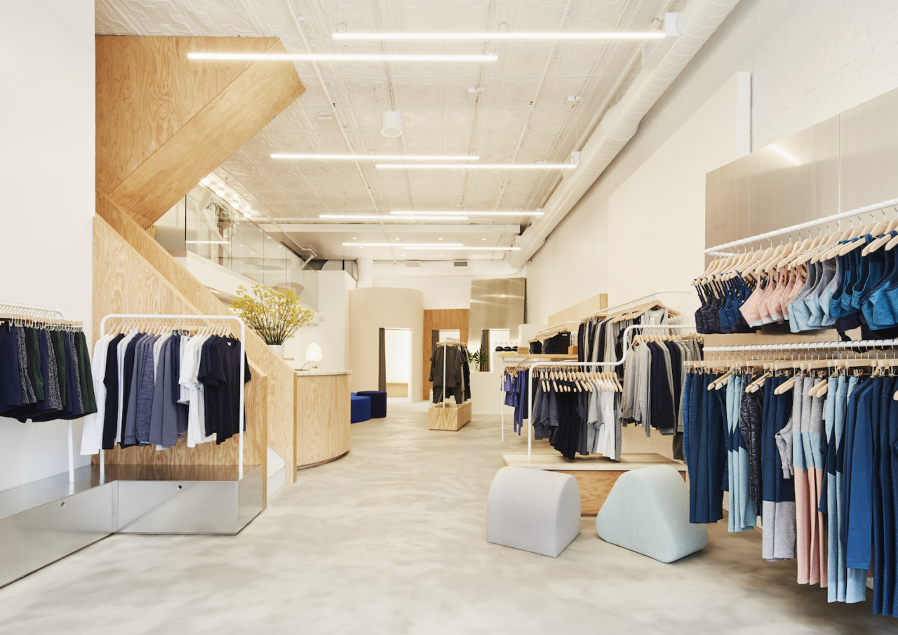Bring your 39 outdoor voices 39 inside this nolita shop and - Interior design for retail stores ...