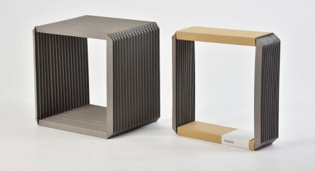 Pleats and Box Clock by Shinya Oguchi