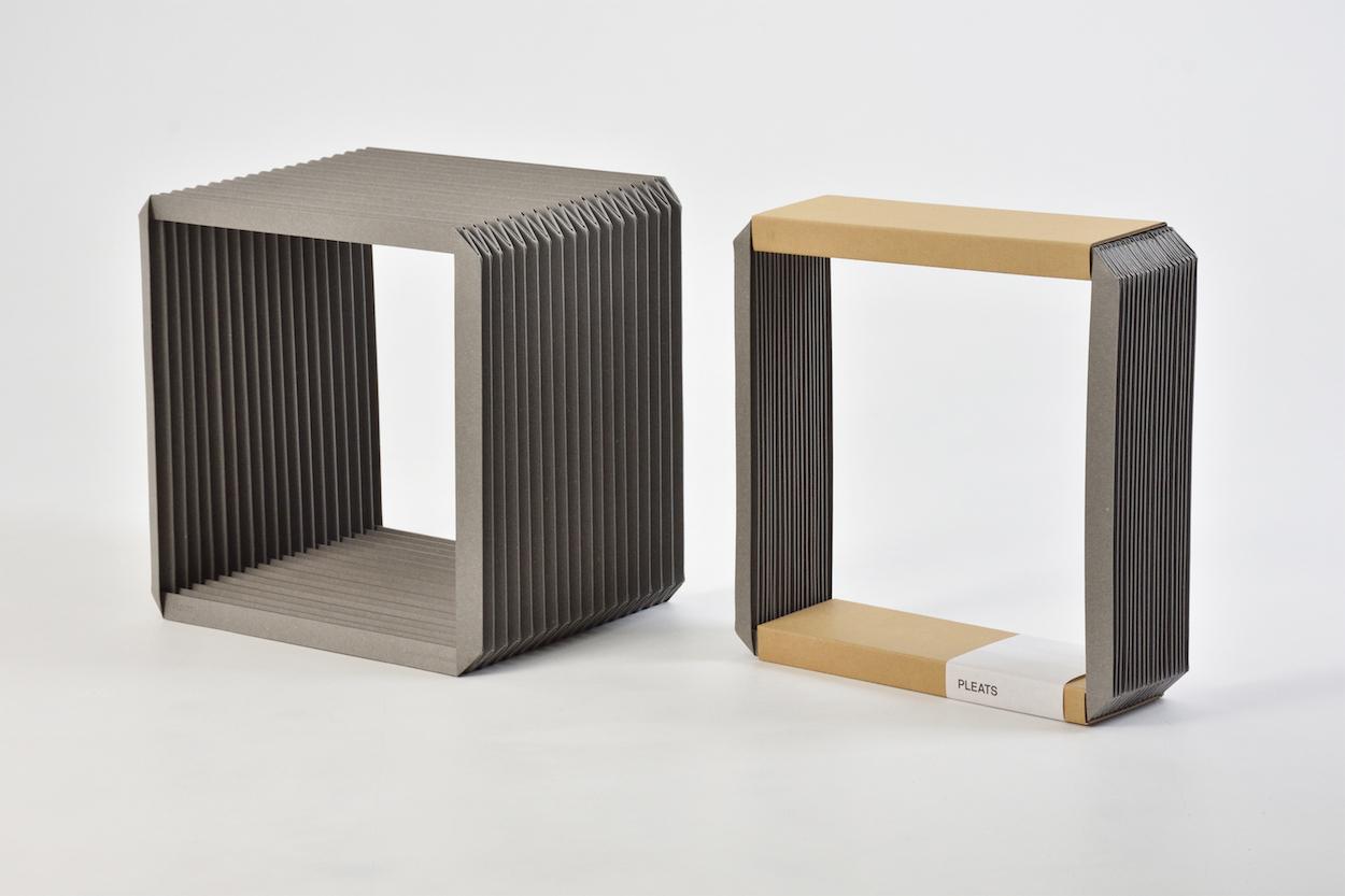Pleats and Box Clock by Shinya Oguchi