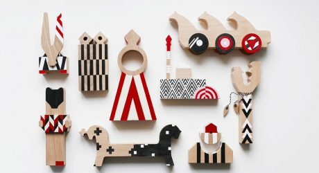 Patterned, Avant-Garde Wooden Blocks Inspired by Russian Toys