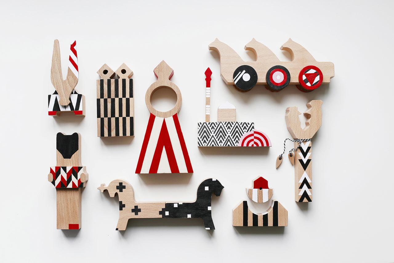 Patterned, Avant-Garde Wooden Blocks Inspired by Russian Toys