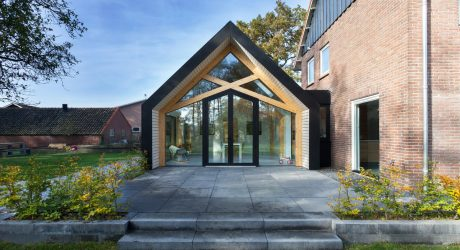 A 50's Farmhouse in The Netherlands is Renovated and Gets an Extension