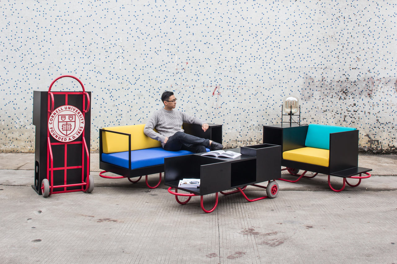 Flexible, Movable Furniture Inspired by Hand Trucks