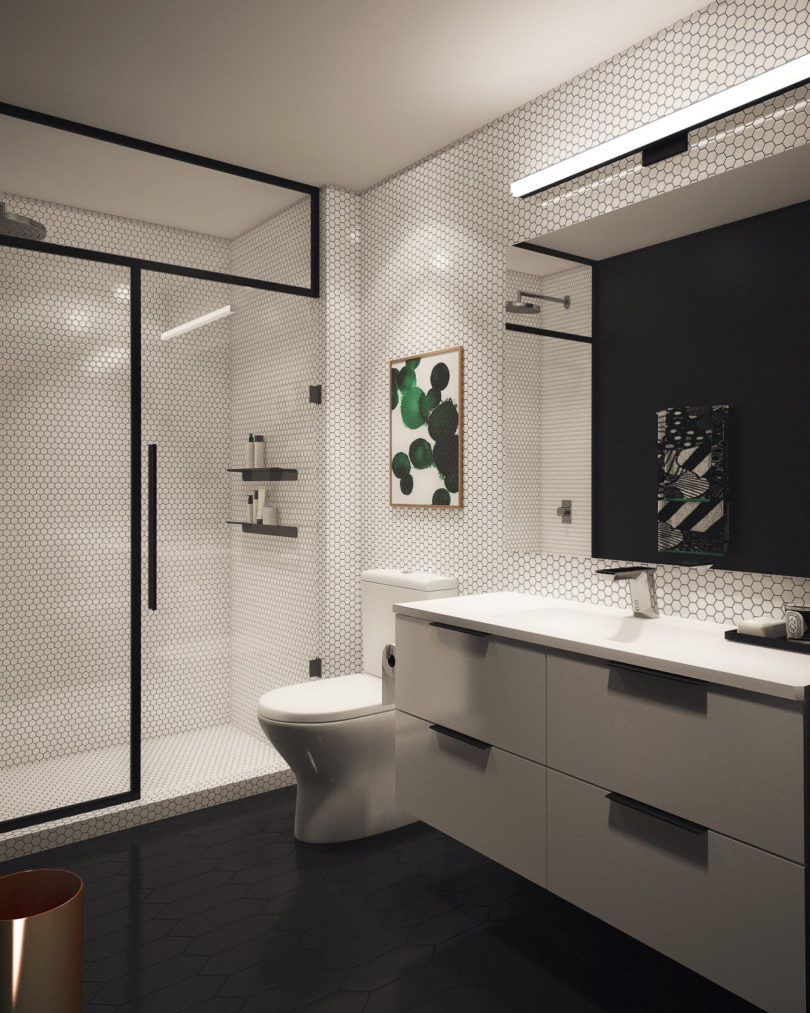 Basic Bathroom Basic Bathroom Gets A Graphic Modern Renovation Architecture
