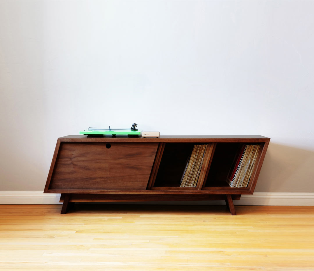 Designing and building a modern record player console for Consoles murales design