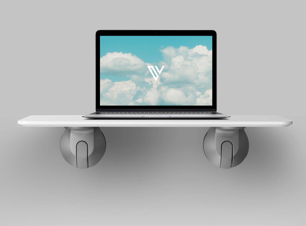 DeskView Standing Desk Instantly Converts Windows Into Workspace