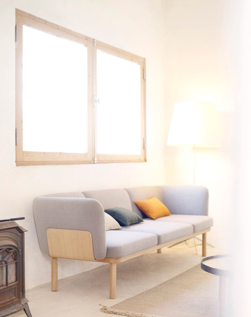 The Sofa Comes As A One  To Three Seater And Is Available With Or Without  Backs. Curved Wooden Panels Keep The Upholstered Cushions Contained Giving  The ...