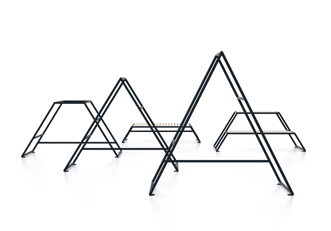 Minimalist Outdoor Gym Inspired by a Mountain in Sweden