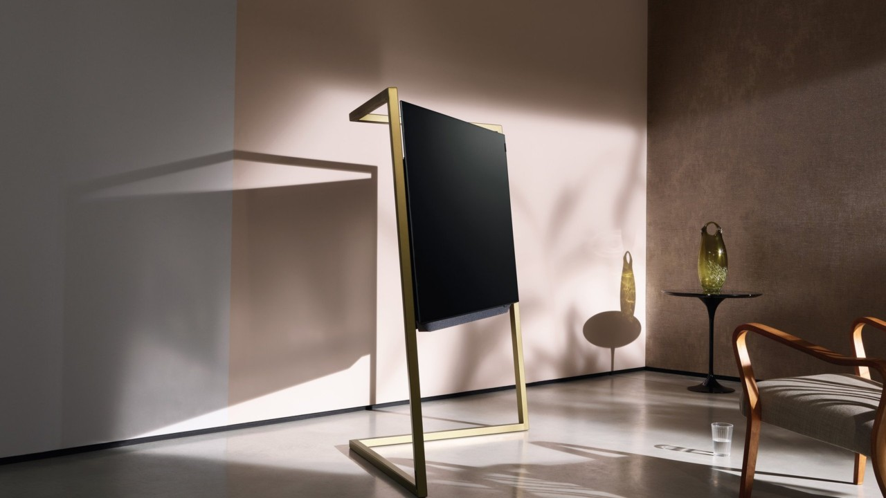 loewe bild 9 brings bauhaus and art deco glamor to oled televisions design milk. Black Bedroom Furniture Sets. Home Design Ideas