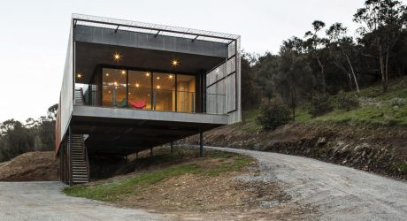 A Long, Narrow House Nestled into the Side of Mount Macedon