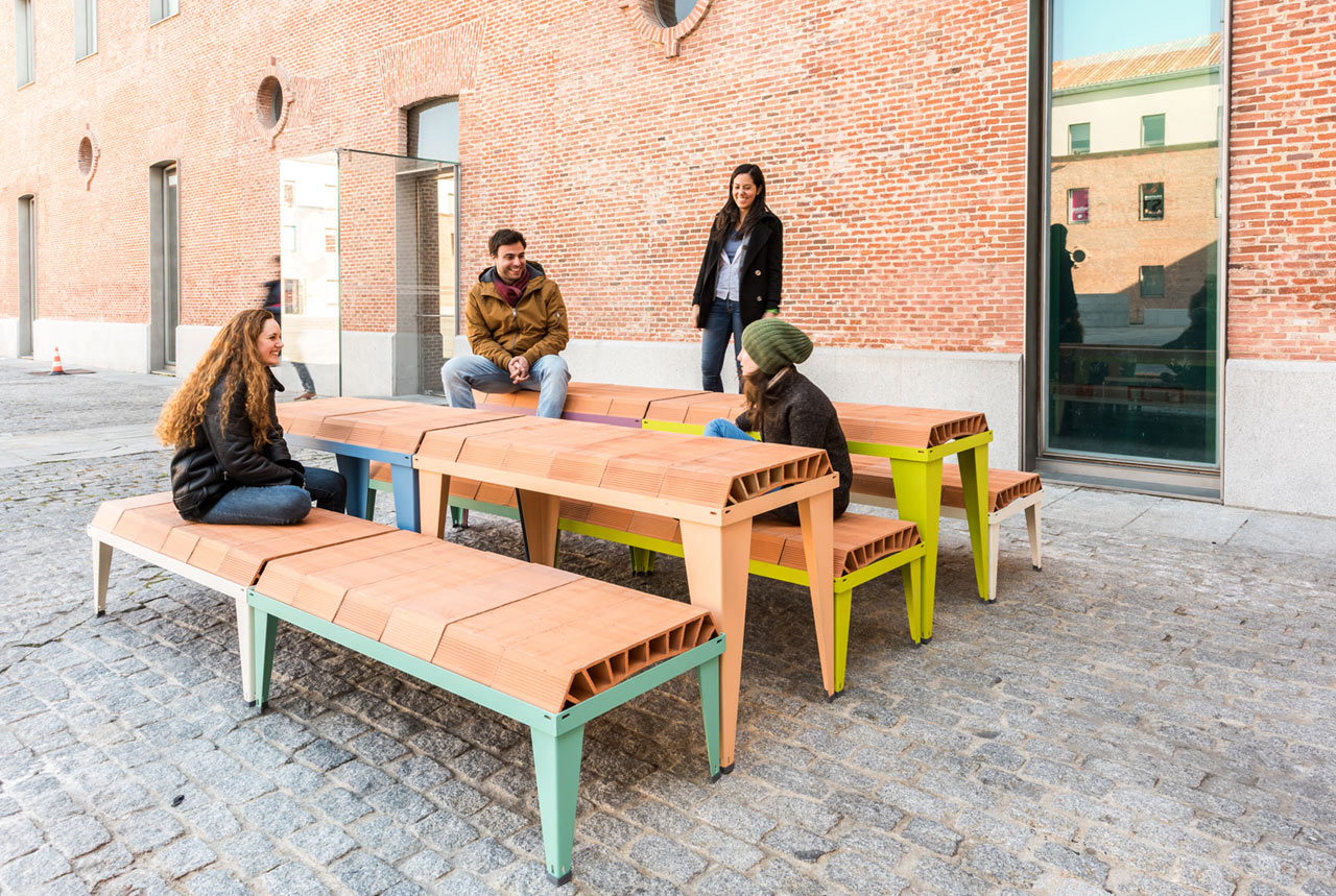 - A Modular Outdoor Furniture System Made By Stacking Components