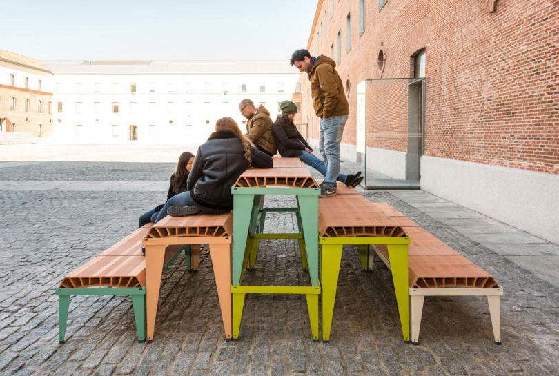 These Initial Prototypes Were Designed For Centro Cultural Conde Duque In  Madrid For A Temporary Furniture Setup At Gastrofestival 2017.