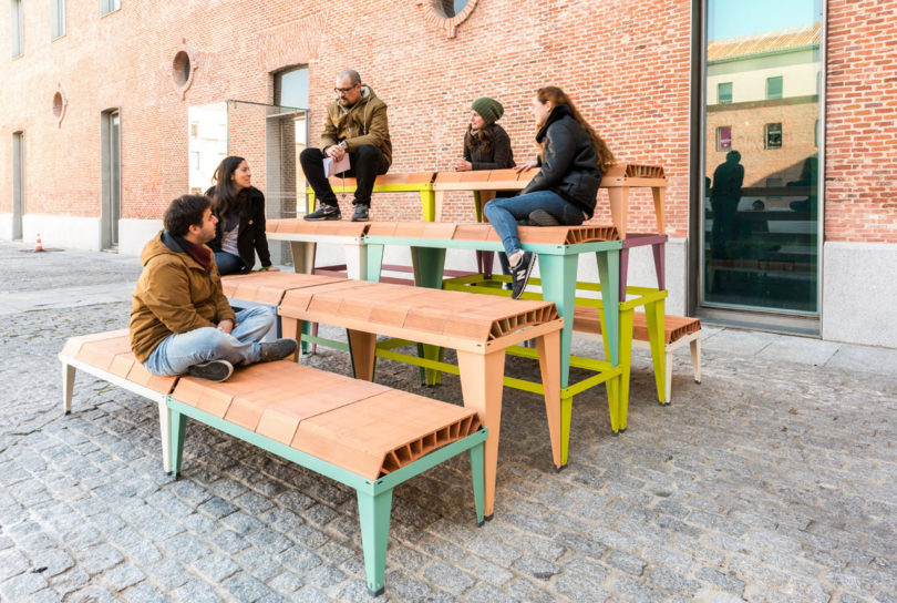 Temporary Furniture a modular outdoor furniture system madestacking components