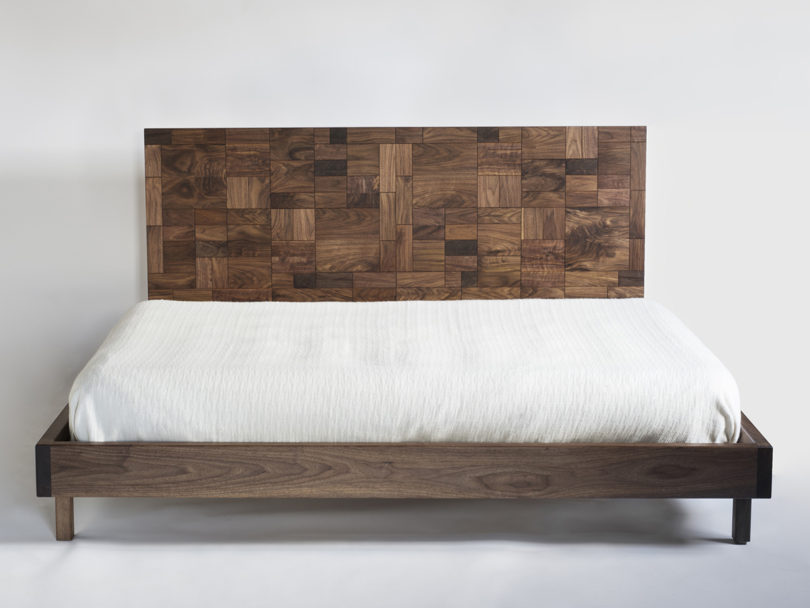 Lovely One is the Patchwork Bed which is similar to a patchwork blanket but in wood There is also the Tetrahedron Dining Table a sculptural table that features