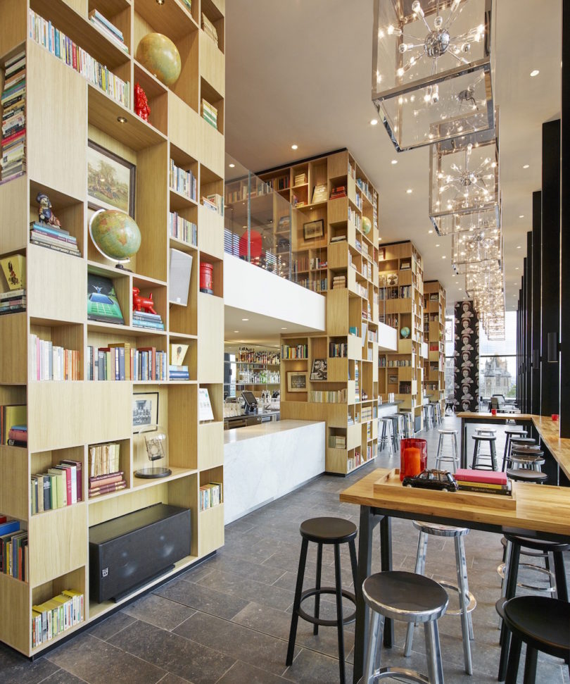 The Hotelu0027s Interiors Was Designed By Dutch Firm Concrete And Features  Floor To Ceiling Bookcases Filled With Art, Books, And Exclusive Objects  From ...
