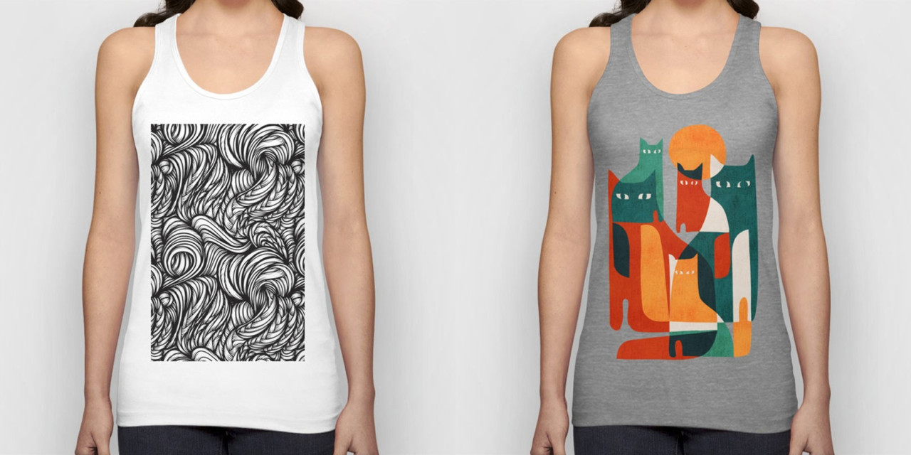 Chill Out and Cool Down With Society6 Tanks