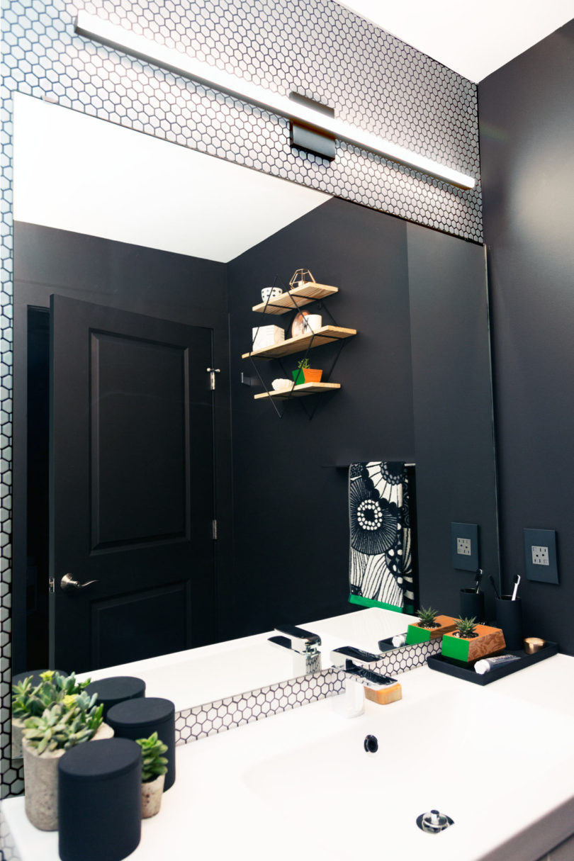 Popular I love the minimalist look of their Stix Bath Bars On the opposite wall a sconce was added in matte black to blend in with the paint