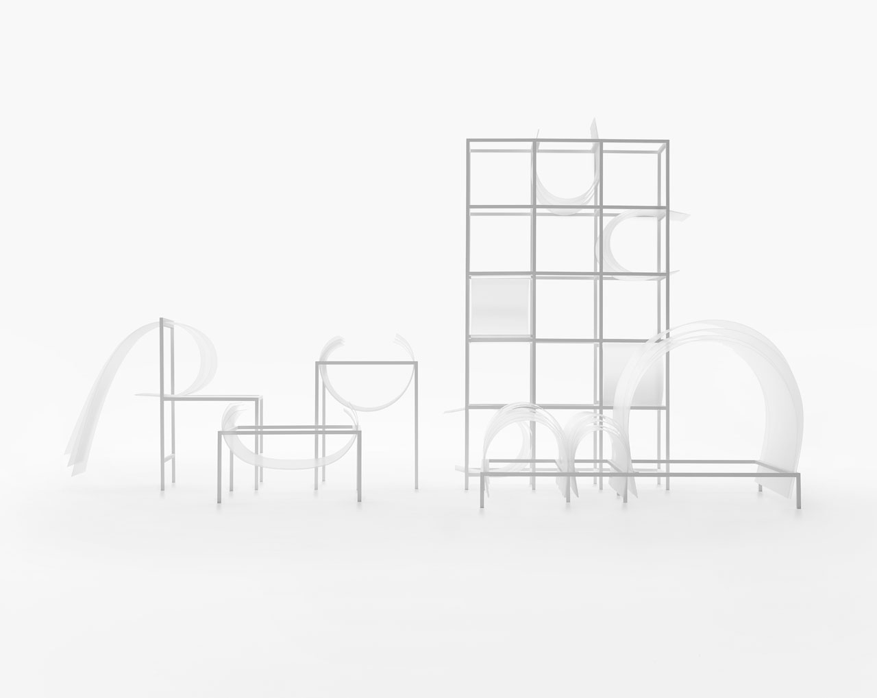 """Nendo Creates """"Soft"""" Furniture Collection Without Upholstery"""