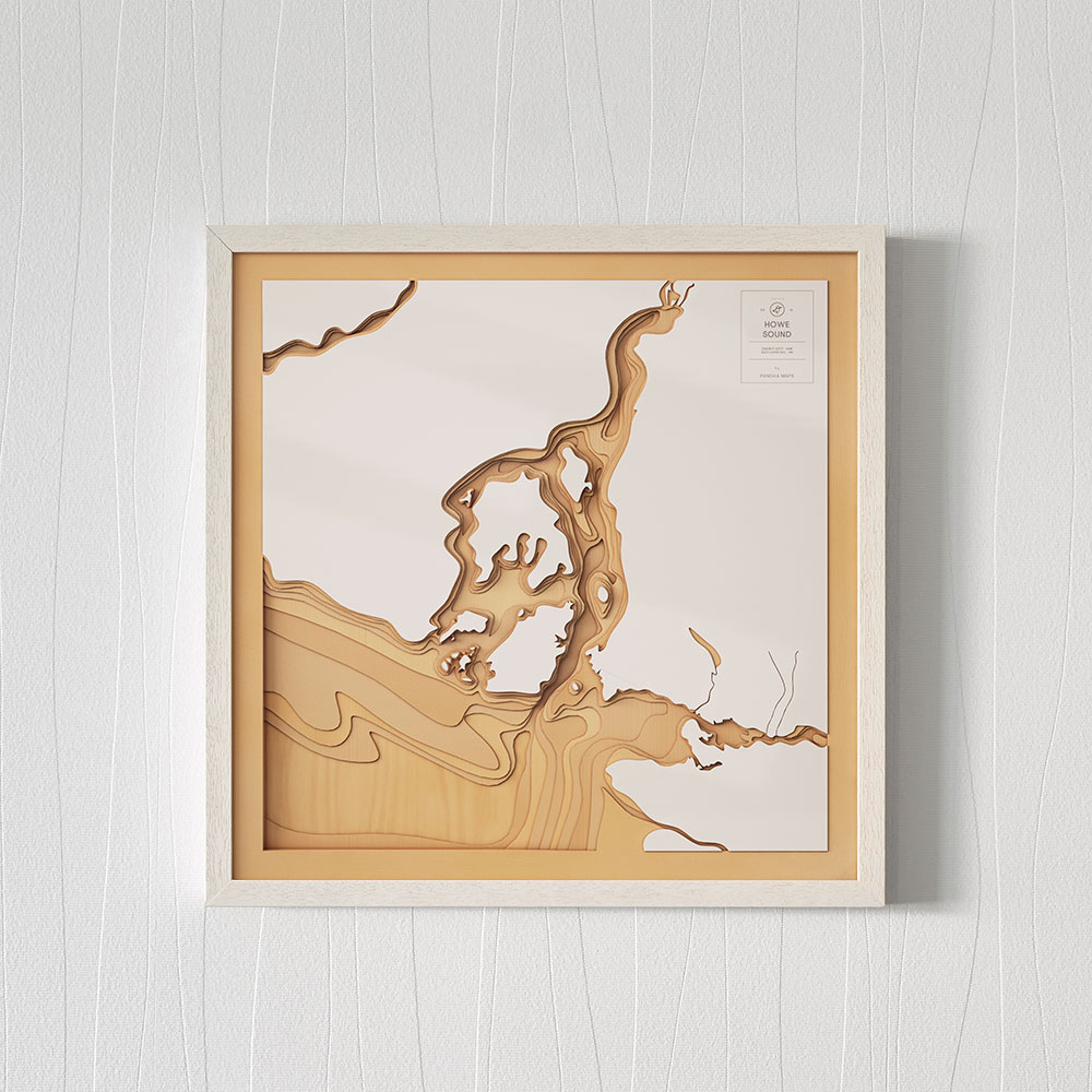 Pangea Maps: Wooden 3D Contour Maps of Iconic Waterscapes