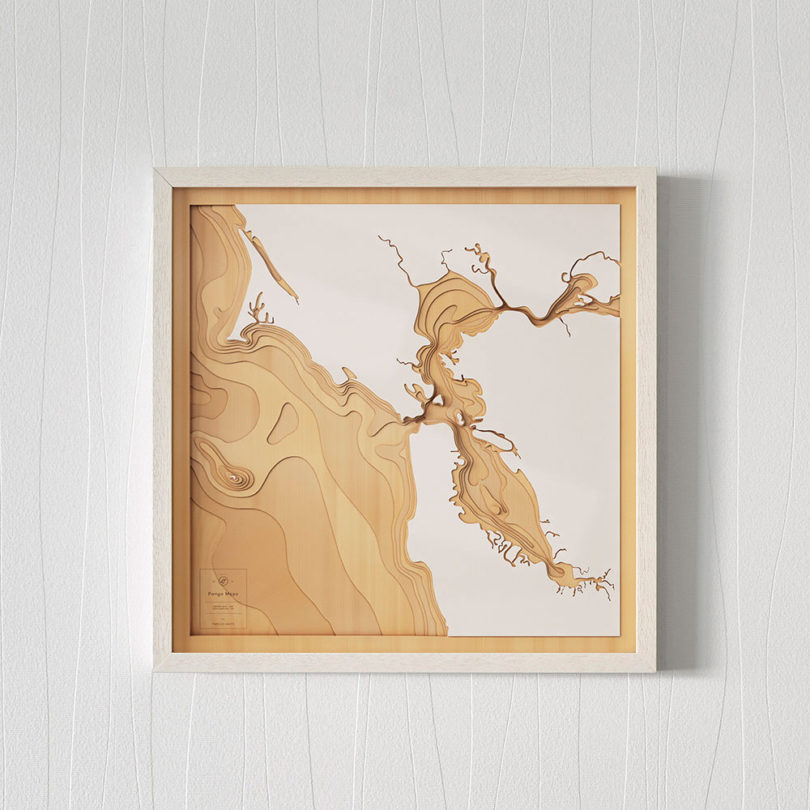 San Francisco Pangea Maps Wooden 3D Contour