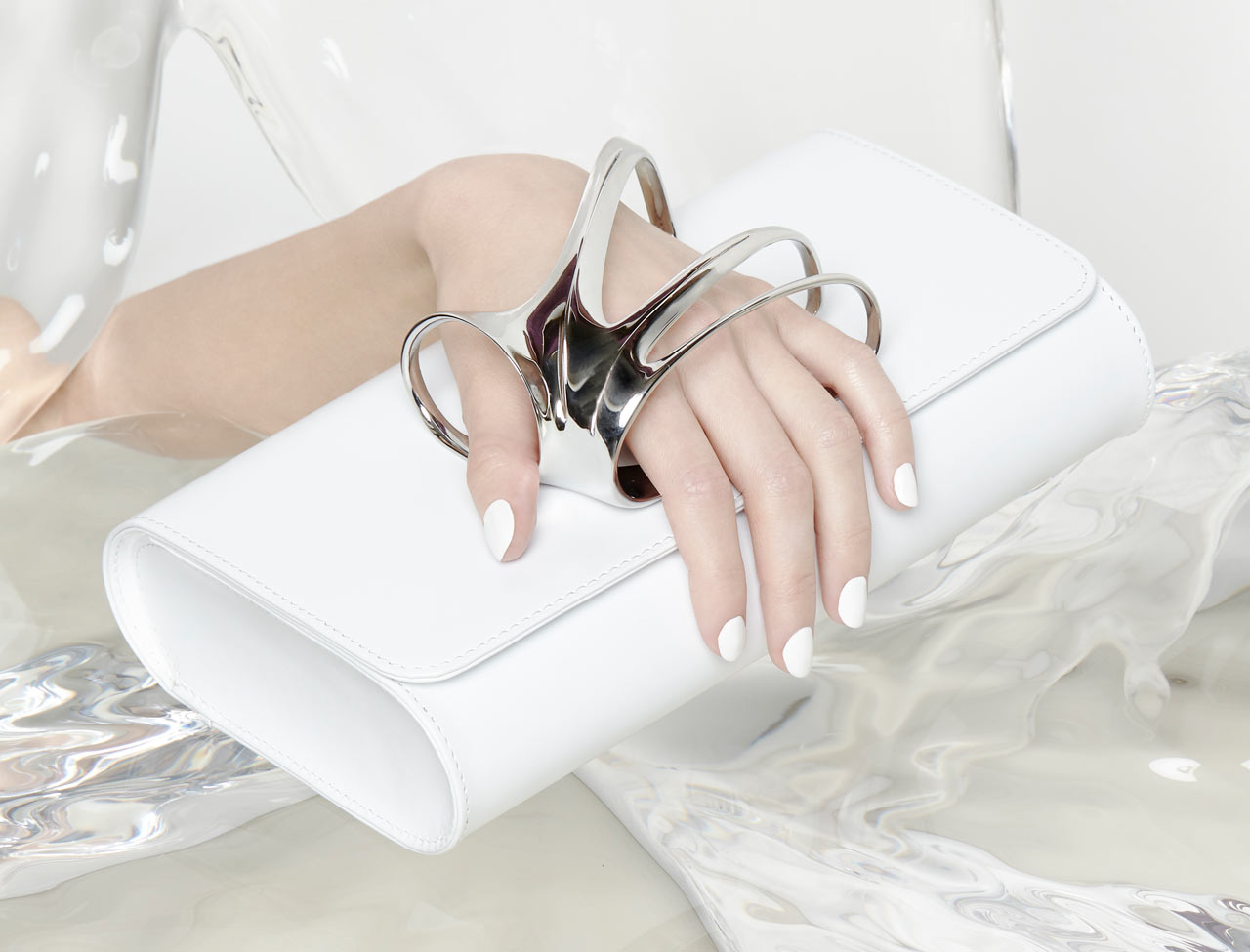 Perrin Paris x Zaha Hadid Leather Clutch Collection