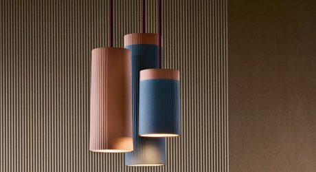 Terracotta Pendant Lamps Inspired by Rigatoni Pasta