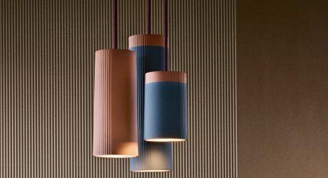 Terracotta Pendant Lamps Inspired by Rigatoni Pasta