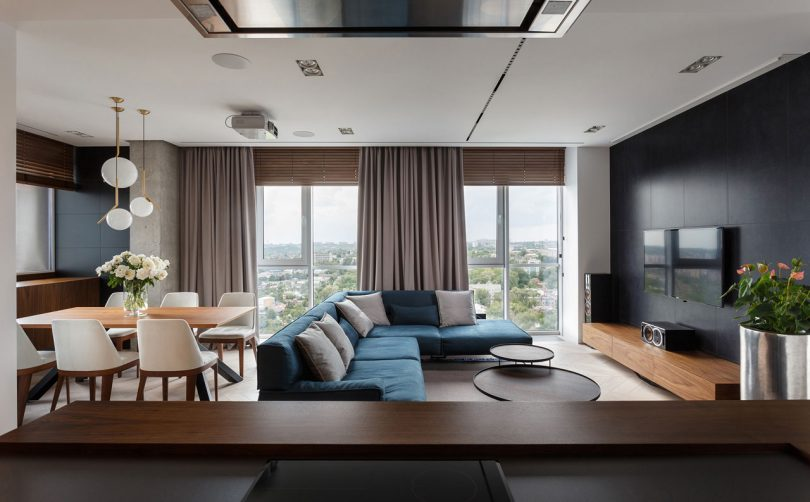 Two Apartments Become One with Views of the Dnipro River