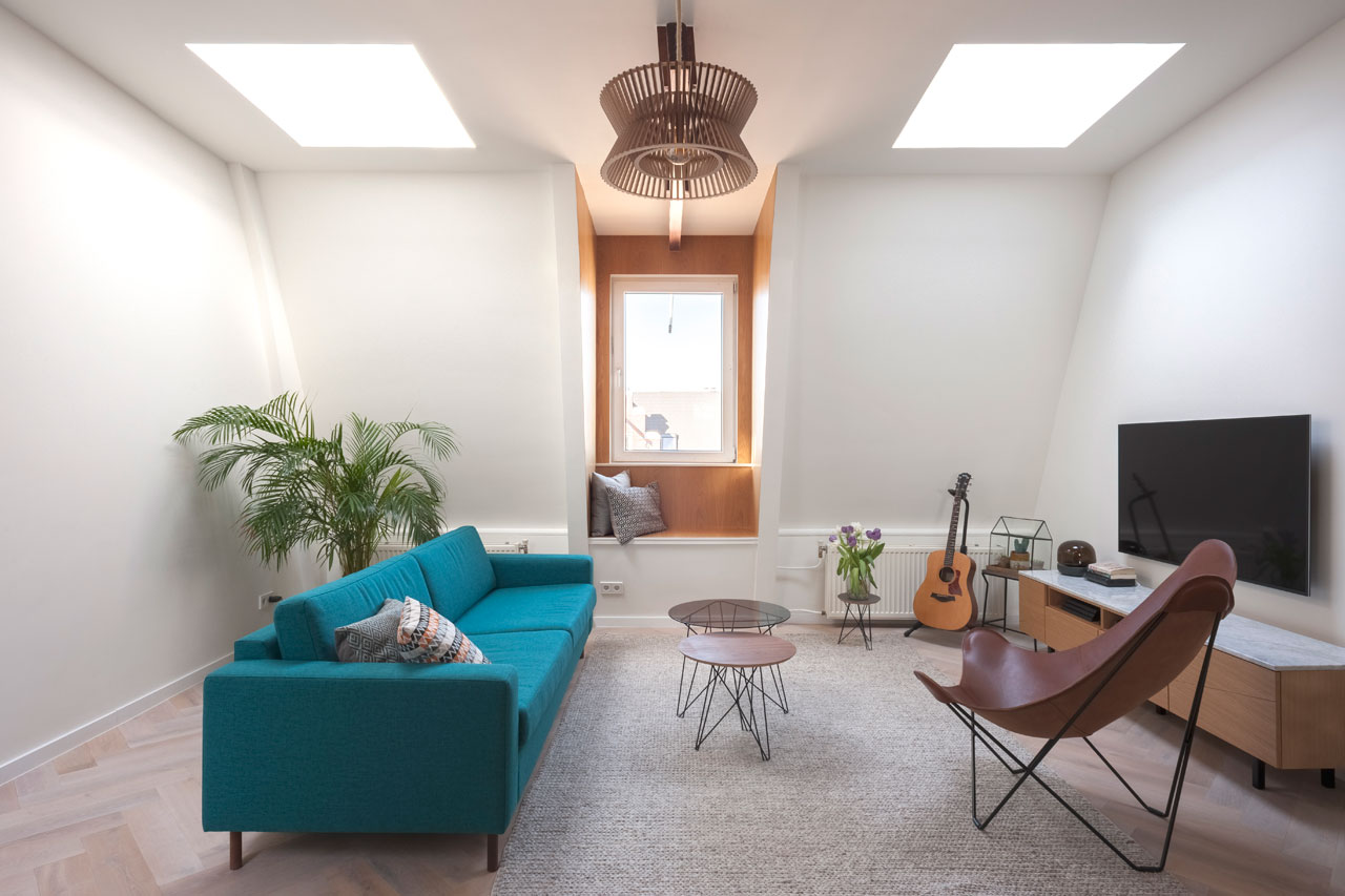 A Former Attic Becomes a Modern Loft in Amsterdam