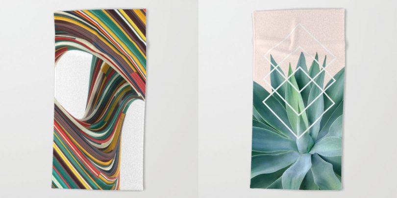 Hit the Beach in Style with Society6 Beach Towels