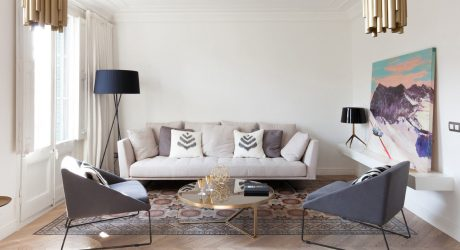 A Modern Barcelona Apartment with Traditional Elements