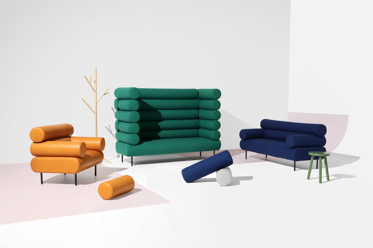 Playful Seating Inspired by Log Cabins - Design Milk