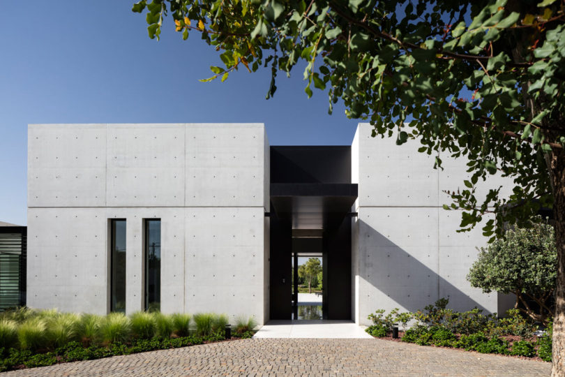 The Landscape Played A Key Role In The Design With Grassy Areas And The  Pool Cutting In And Out Of The Concrete Structures, Helping To Join The  Interior And ...
