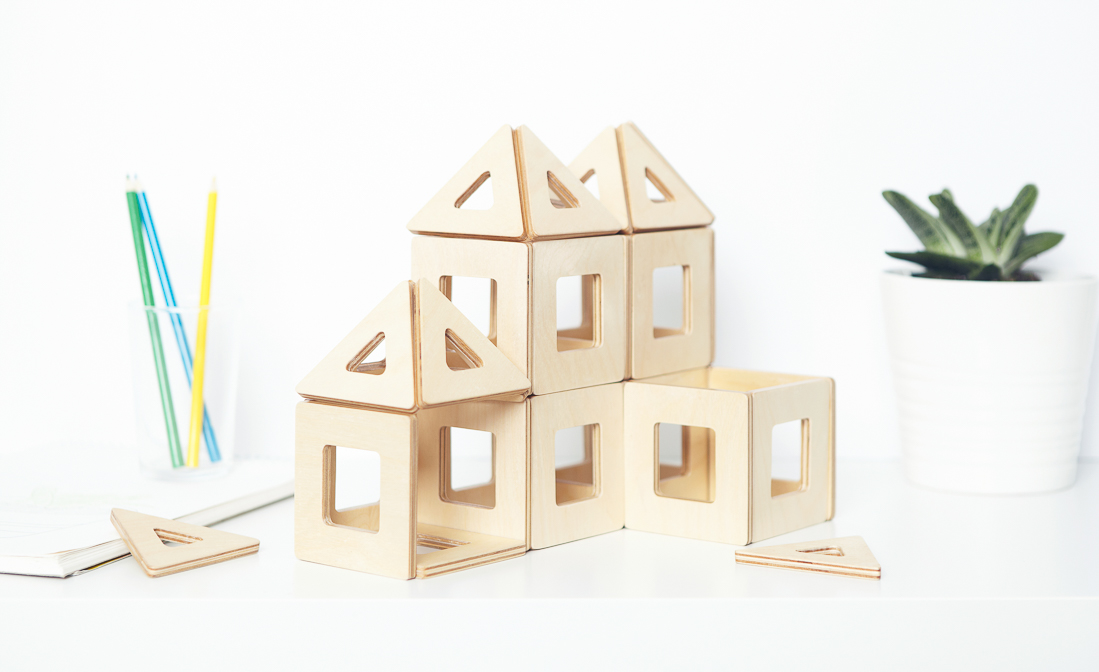 Geometric Magnetic Toys For Creative Play