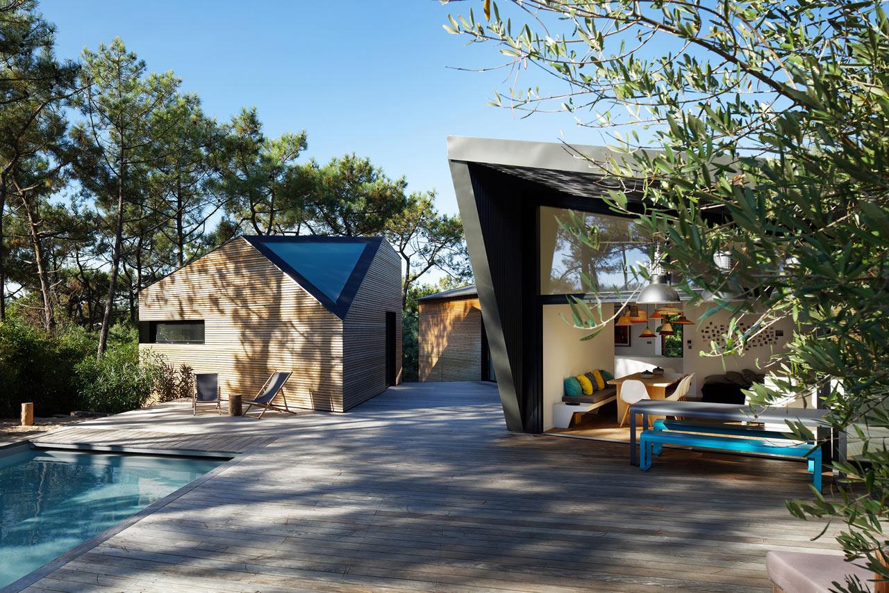 a modern holiday house near bordeaux france design milk. Black Bedroom Furniture Sets. Home Design Ideas